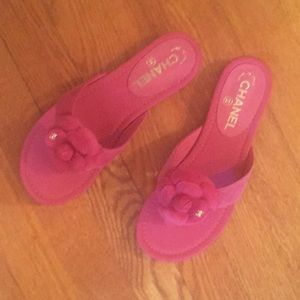CHANEL Shoes - Chanel pink suede sandal new